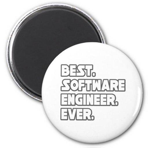 La mejor Software Engineer nunca Imán De Frigorífico