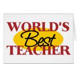 La mejor tarjeta de felicitación del profesor del