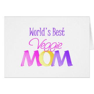 La mejor tarjeta de la mamá del Veggie del mundo