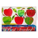 La mejor tarjeta de profesor