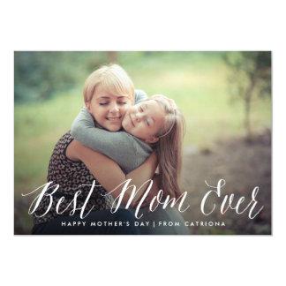 """La mejor tarjeta del día de madre de la escritura invitación 5"""" x 7"""""""