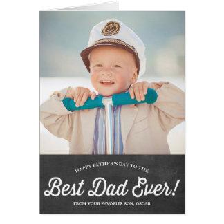 La mejor tarjeta del día de padre de la pizarra de
