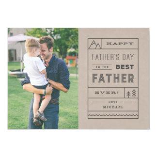 """La mejor tarjeta del día de padre del padre - invitación 5"""" x 7"""""""