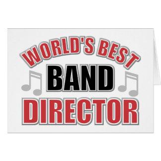 La mejor tarjeta del director felicitación de la b