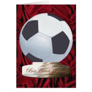 La mejor tarjeta del premio del coche del fútbol
