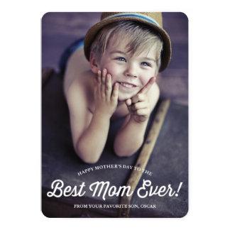 """La mejor tarjeta retra del día de madre de la invitación 5"""" x 7"""""""