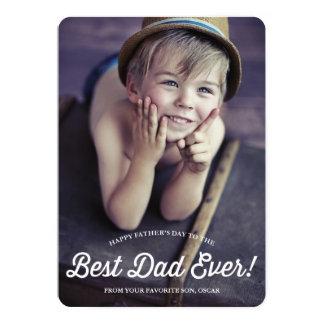 """La mejor tarjeta retra del día de padre de la invitación 5"""" x 7"""""""