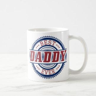 La mejor taza blanca siempre clásica del papá taza básica blanca