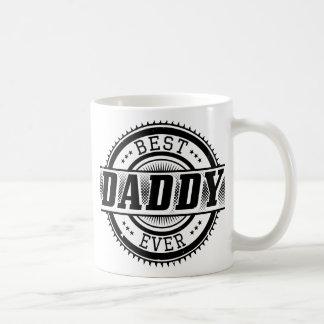 La mejor taza blanca siempre clásica del papá