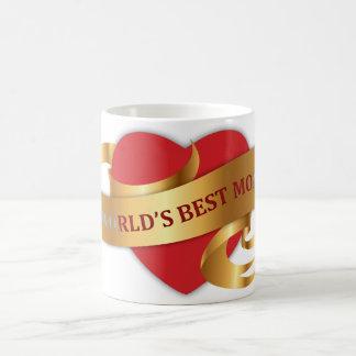 La mejor taza de la cinta del oro de la mamá del m