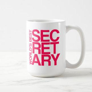 La mejor taza de la secretaria café del mundo