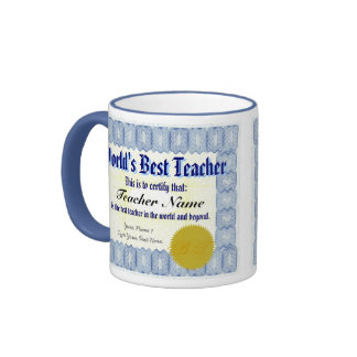 La mejor taza del certificado del profesor del
