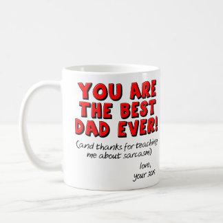 La mejor taza divertida siempre sarcástica del