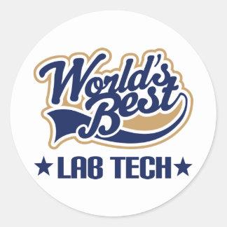 La mejor tecnología del laboratorio de los mundos pegatina redonda