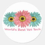 la mejor tecnología del veterinario de 20 mundos pegatina redonda
