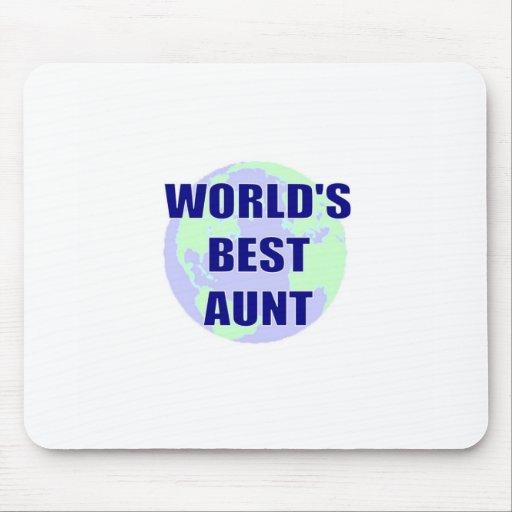 La mejor tía del mundo alfombrillas de ratón