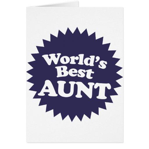 La mejor tía del mundo felicitacion