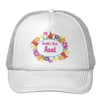 La mejor tía del mundo gorras
