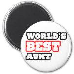 La mejor tía del mundo iman de nevera