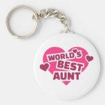 La mejor tía del mundo llavero