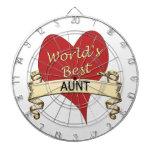 La mejor tía del mundo tablero de dardos