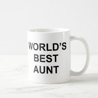 La mejor tía del mundo taza básica blanca