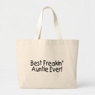 La mejor tía Ever 2 de Freakin Bolsas Lienzo
