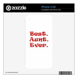 La mejor tía Ever Calcomanías Para El iPhone 4S