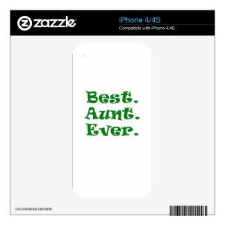 La mejor tía Ever Calcomanías Para iPhone 4