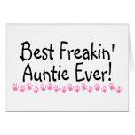 La mejor tía Ever de Freakin Felicitaciones