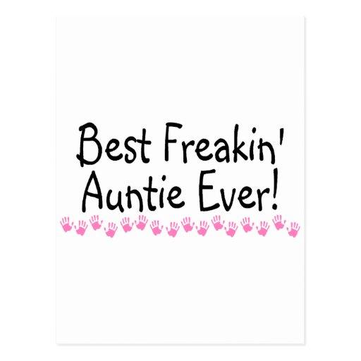 La mejor tía Ever de Freakin Postales