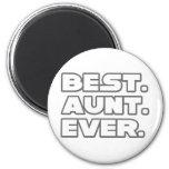 La mejor tía Ever Imanes De Nevera