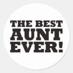La mejor tía Ever Pegatinas Redondas