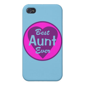 La mejor tía Ever Personalized iPhone 4/4S Funda