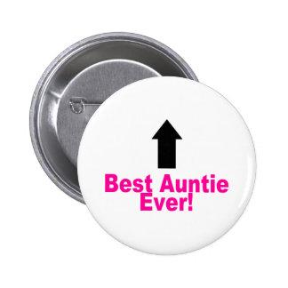 La mejor tía Ever Pin Redondo 5 Cm