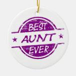 La mejor tía Ever Purple Adornos