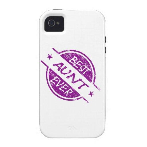 La mejor tía Ever Purple iPhone 4 Carcasas