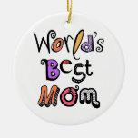 La mejor tipografía de la mamá del mundo ornamento de navidad