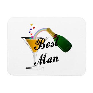 La mejor tostada de Champán del hombre Iman Rectangular