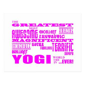 La mejor yoga de las yoguis de los chicas: Yogui Tarjeta Postal