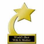 La mejores esposa y madre, trofeo del mundo del pr escultura fotografica