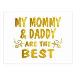 La mejores mamá y papá postal
