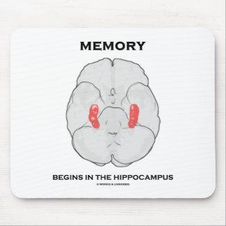 La memoria comienza en el hipocampo alfombrillas de raton