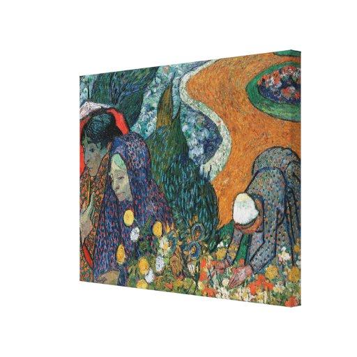 La memoria de Van Gogh del jardín en Etten (1888) Impresiones De Lienzo