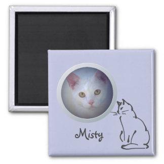 La memoria del gato añade una foto imán cuadrado