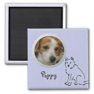 La memoria del perro añade una foto imán cuadrado