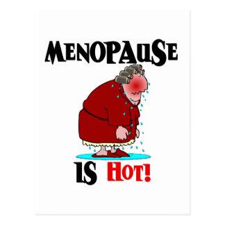 La menopausia es caliente tarjeta postal