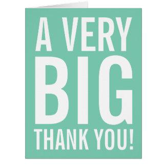 La menta de gran tamaño muy grande le agradece las tarjeta de felicitación grande