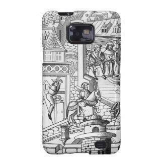 La menta, después de un grabar en madera en 'De l' Samsung Galaxy S2 Carcasas