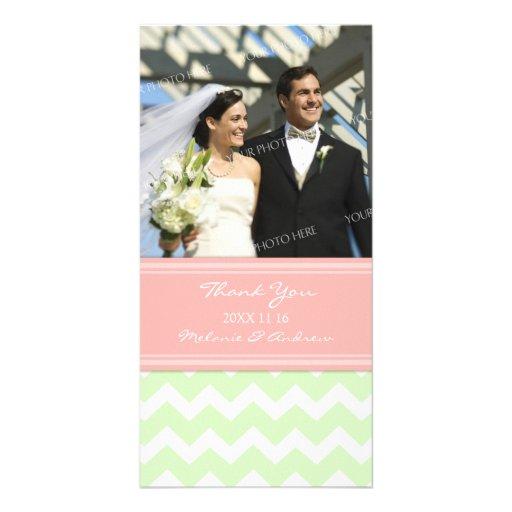 La menta rosada le agradece las tarjetas de la fot tarjeta fotográfica personalizada